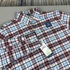 Men's Izod Long Sleeve Button Down Shirt Size S